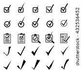 tick icons set