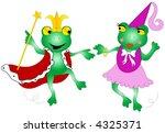 king and queen  frog dancing. | Shutterstock .eps vector #4325371