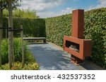 sitting area in the garden with ... | Shutterstock . vector #432537352
