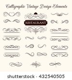 ornate frames and scroll... | Shutterstock .eps vector #432540505