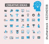 creative ideas icons  | Shutterstock .eps vector #432540508