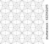 monochrome geometric thin line... | Shutterstock .eps vector #432542695