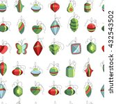 seamless festive pattern with... | Shutterstock .eps vector #432543502