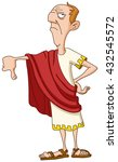 roman emperor showing thumb down | Shutterstock .eps vector #432545572