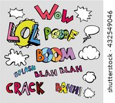 vector set of comic text.... | Shutterstock .eps vector #432549046