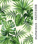 tropical seamless pattern with... | Shutterstock .eps vector #432551008