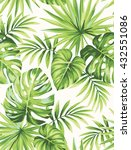 tropical seamless pattern with... | Shutterstock .eps vector #432551086