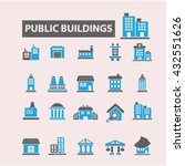 buildings icons  | Shutterstock .eps vector #432551626