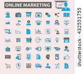 online marketing icons  | Shutterstock .eps vector #432551755