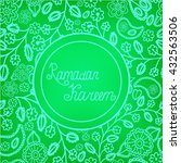ramadan kareem arabic... | Shutterstock .eps vector #432563506