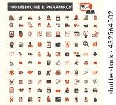 medicine pharmacy icons  | Shutterstock .eps vector #432564502