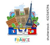 concept of travel to france or... | Shutterstock .eps vector #432569296
