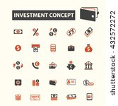 investment concept icons  | Shutterstock .eps vector #432572272