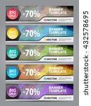 abstract banner template | Shutterstock .eps vector #432578695
