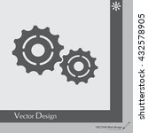 vector cog settings icon symbol | Shutterstock .eps vector #432578905