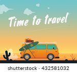 time to travel.poster | Shutterstock .eps vector #432581032