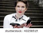 young attractive women dressed... | Shutterstock . vector #43258519
