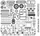 compilation of machinery parts  ... | Shutterstock .eps vector #432585352
