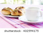 croissant and pastry cup of...   Shutterstock . vector #432594175
