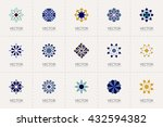geometric logo template set.... | Shutterstock .eps vector #432594382