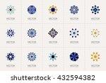 geometric logo template set.... | Shutterstock .eps vector #432594382