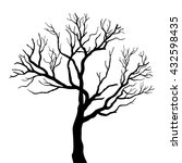 tree silhouettes. vector... | Shutterstock .eps vector #432598435