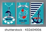 nautical banners with marine... | Shutterstock .eps vector #432604006