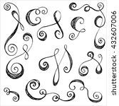hand drawn scroll elements.... | Shutterstock .eps vector #432607006