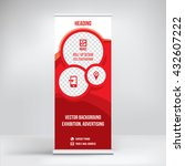 banner roll up design  business ... | Shutterstock .eps vector #432607222