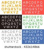 transparent letters alphabet.... | Shutterstock .eps vector #432614866