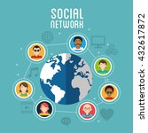 social media design. networking ... | Shutterstock .eps vector #432617872