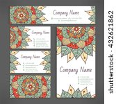 business and visiting card set... | Shutterstock .eps vector #432621862