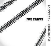 tire tracks black on white... | Shutterstock .eps vector #432622705