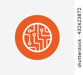 circuit board sign icon.... | Shutterstock . vector #432623872