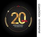 20 golden anniversary logo with ... | Shutterstock .eps vector #432624955