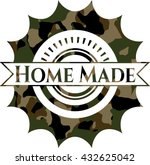 home made on camo pattern | Shutterstock .eps vector #432625042