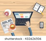 cropped image of  man working... | Shutterstock .eps vector #432626506