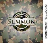 summon camo emblem | Shutterstock .eps vector #432627022