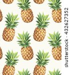 Pineapple Seamless Pattern....