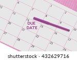 Due Date Calendar Felt Tip...