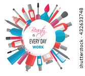 cosmetic background with quote  ... | Shutterstock .eps vector #432633748