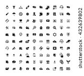 set of 100 universal icons.... | Shutterstock . vector #432639802
