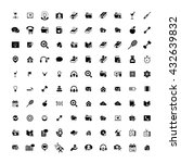 set of 100 universal icons.... | Shutterstock . vector #432639832