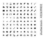 set of 100 universal icons....