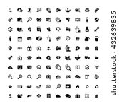 set of 100 universal icons.... | Shutterstock . vector #432639835
