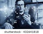 portrait handsome bearded man... | Shutterstock . vector #432641818