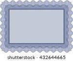 certificate template eps10 jpg... | Shutterstock .eps vector #432644665