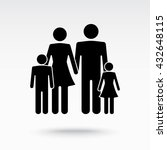 family sign icon  vector... | Shutterstock .eps vector #432648115