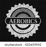 aerobics on blackboard | Shutterstock .eps vector #432655942