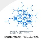 delivery mechanism concept.... | Shutterstock .eps vector #432660526